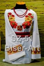 Заготовка для вышивки бисером Сорочка женская Biser-Art Сорочка жіноча SZ-51 (льон)