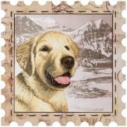 Набор для вышивки нитками Почтовая марка Лабрадор