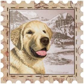 Набор для вышивки нитками Почтовая марка Лабрадор Новая Слобода (Нова слобода) КО4021-У - 275.00грн.