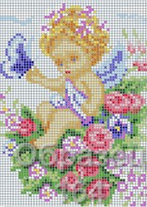 Схема вышивки бисером на габардине Ангел Biser-Art 15х21-164