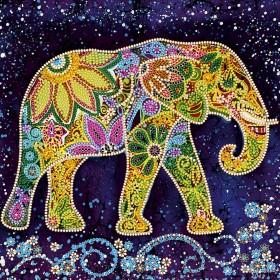 Схема вышивки бисером на холсте Индийский слон Абрис Арт АС-498 - 50.00грн.