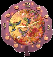 Набор для создания часов с вышитой основой Райские птички Новая Слобода (Нова слобода) РТ6515