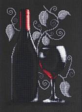 Набор для вышивки крестом Бутылка с вином Luca-S В2220