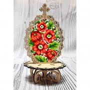 Писанка для вышивки бисером по дереву Петриковская