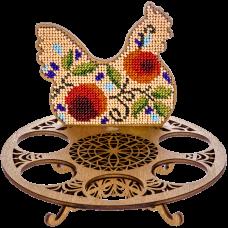 Набор для вышивки бисером по дереву Курочка Волшебная страна FLK-260