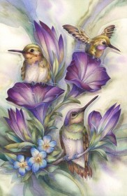 Набор для выкладки алмазной мозаикой Птицы в цветах