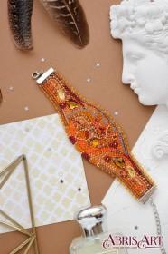Набор для вышивки бисером украшение-браслет Осеннее золото