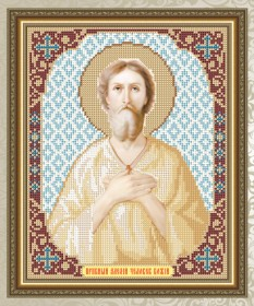 Схема для вышивки бисером на габардине Преподобный Алексей Человек Божий