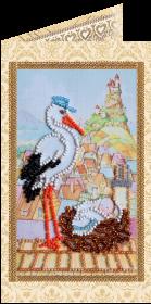 Набор - открытка для вышивки бисером Подарок аиста Абрис Арт АО-117 - 68.00грн.