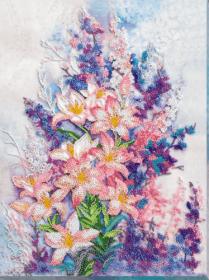 Набор для вышивания бисером Нежно-розовый