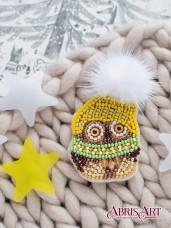 Набор для вышивки бисером украшения Совенок Кузя Абрис Арт AD-061