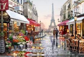 Набор для выкладки алмазной мозаикой Улочка Парижа Алмазная мозаика DM-328 - 760.00грн.