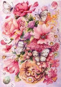 Набір для вишивання хрестиком Рожева Аврора