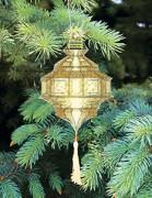 Набор для вышивки нитками Новогодняя игрушка Желтый фонарик