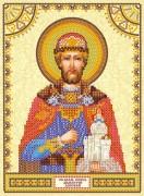 Схема для вышивки бисером на холсте Святой Дмитрий