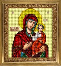 Набор для вышивки ювелирным бисером Икона Смоленская Краса и творчiсть 51113