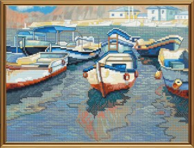 Набор для вышивки крестом Лодочная пристань, , 134.00грн., СВ4079, Новая Слобода (Нова слобода), Морская тематика
