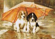 Набор для вышивки крестом Двое под зонтом