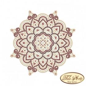 Схема вышивки бисером на габардине Мандала Золото и Марсала Tela Artis (Тэла Артис) МА-005(1) ТА - 50.00грн.