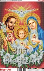 Схема вышивки бисером на габардине Святе сімейство Biser-Art 40х60-3064