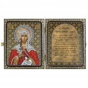 Набор для вышивки иконы в рамке-складне Св.Мц.Татьяна (Татиана) Римская