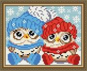 Набор для выкладки алмазной мозаикой Совиная зима