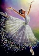 Схема вишивкі бісером на габардині Балерина