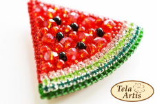 Набор для вышивки броши велюре Арбузик Tela Artis (Тэла Артис) Б-004ТА