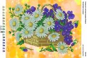 Рисунок на габардине для вышивки бисером Літній букет в кошику