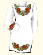 Заготовка женского платья для вышивки бисером