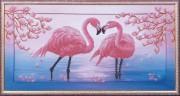 Набор для вышивки бисером Розовые фламинго