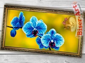 Схема вышивки бисером на габардине Панно Блакитна орхідея Biser-Art 3060003 - 130.00грн.