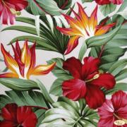 Рисунок на ткани для вышивки бисером Гибискус и райская птица