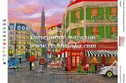Схема для вышивки бисером на атласе Париж