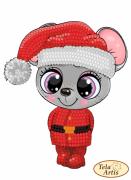 Схема для вышивки бисером на ВЕЛЮРЕ Мышонок Санта