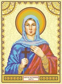 Схема для вышивки бисером на холсте Святая Марта