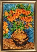 Набор для вышивки бисером Цветы в медной вазе (по мотивам картины В. Ван Гога)