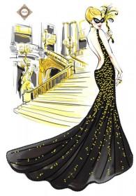 Схема для вышивки бисером на атласе Карнавальная ночь