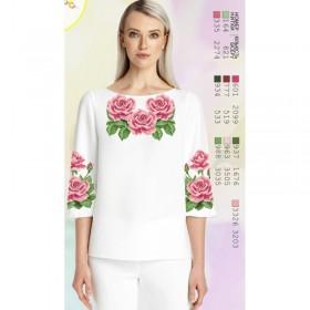 Заготовка женской сорочки на белом габардине Biser-Art SZ82 - 320.00грн.