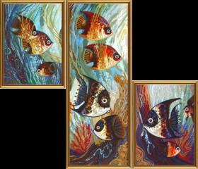 Набор для вышивки бисером Морское царство, , 327.00грн., ДК6575, Новая Слобода (Нова слобода), Картины из нескольких частей