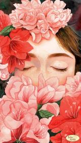 Схема для вишивання бісером на атласі Квітковий настрій