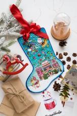 Набор для вышивки новогоднего сапожка Чудеса Абрис Арт АВЕ-002