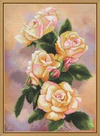 Набор для вышивки крестом Чайная роза, , 132.00грн., СР4207, Новая Слобода (Нова слобода), Вышивка на дизайнерской канве