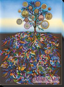 Набор для вышивки бисером на холсте Денежное дерево, , 484.00грн., АВ-508, Абрис Арт, Наборы и схемы для вышивки бисером и нитками Восток