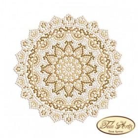 Схема вышивки бисером на габардине Мандала Райский пляж Tela Artis (Тэла Артис) МА-003(1) - 50.00грн.