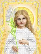 Рисунок на ткани для вышивки бисером Божья Матерь Трилетствующая (золото)