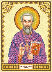 Схема для вышивки бисером на холсте Святой Леонид