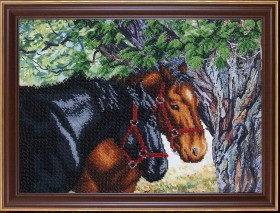 Набор для вышивки бисером Пара лошадей