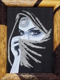 Набор для вышивки бисером на габардине Хабиби, , 260.00грн., НЮ-071, Миледи, Люди