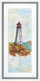 Набор для вышивки крестом Маяк надежды, , 195.00грн., ВТ-509, Cristal Art, Морская тематика